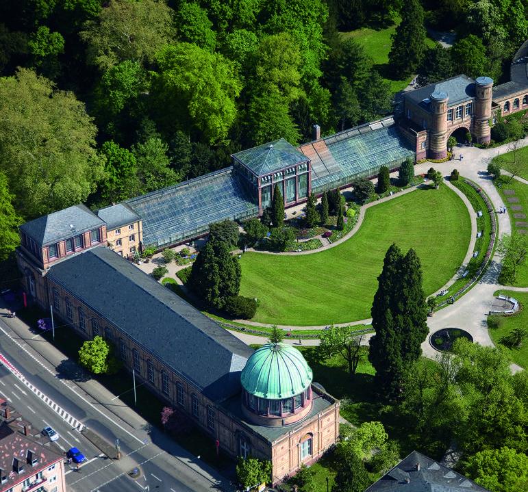 Exceptionnel Luftbild Vom Botanischen Garten Karlsruhe; Foto: Staatliche Schlösser Und  Gärten Baden Württemberg,