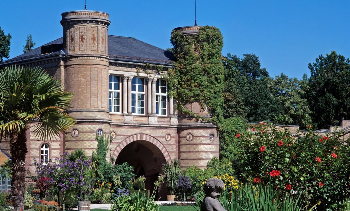 Charmant ... Botanischen Garten Karlsruhe Zu Feiern. Torbogengebäude; Foto:  Landesmedienzentrum Baden Württemberg, Steffen Hauswirth