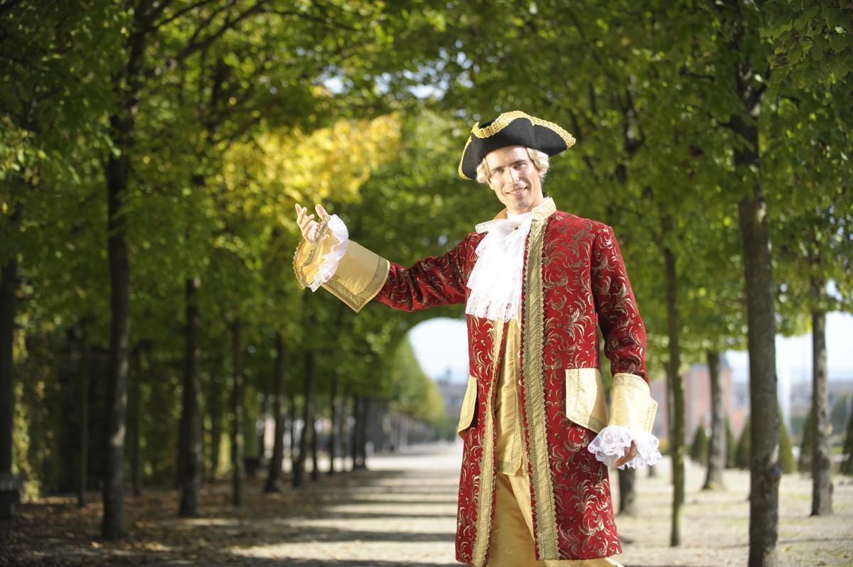 Führungen im Kostüm sind ein Highlight jeder Veranstaltung; Foto: Staatliche Schlösser und Gärten Baden-Württemberg, Niels Schubert