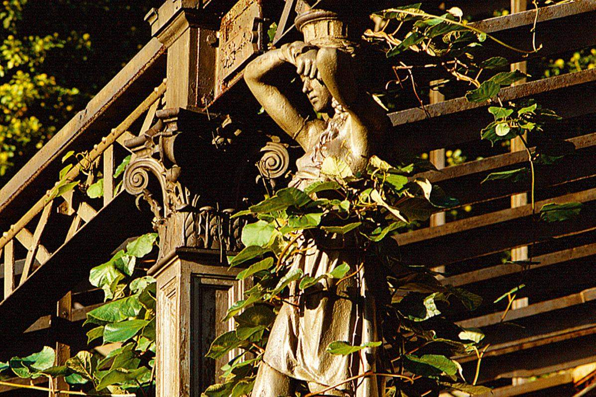 Detail of the façade of the greenhouse; photo: Staatliche Schlösser und Gärten Baden-Württemberg, unknown author