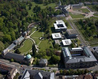 Der Botanische Garten Karlsruhe aus der Luft