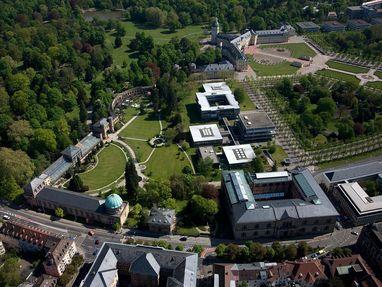 Botanischer Garten Karlsruhe von oben
