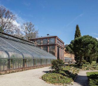 Botanischer Garten Karlsruhe, Schauhäuser; Foto: Staatliche Schlösser und Gärten Baden-Württemberg, Dirk Altenkirch