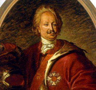Porträt von Markgraf Karl Wilhelm von Baden-Durlach, der 1715 Schloss und Stadt Karlsruhe gründete