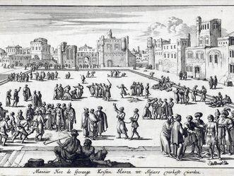 Sklavenmarkt in Algier, Jan Luyken 1684