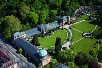 Luftbild vom Botanischen Garten Karlsruhe