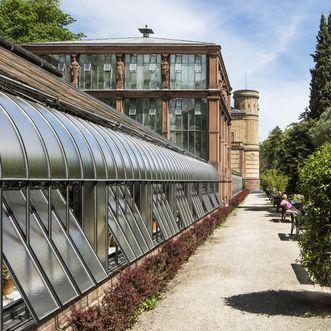 Karlsruhe Botanical Gardens, conservatories. Image: Staatliche Schlösser und Gärten Baden-Württemberg, Dirk Altenkirch