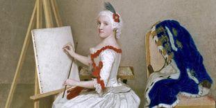 Portrait of Karoline Luise von Baden.