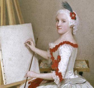 Porträt der Markgräfin Karoline Luise von Baden, Mitbegründerin des Botanischen Gartens Karlsruhe