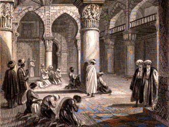 Innenraum einer Moschee in Algier, L' Algérie ancienne et moderne von Léon Galibert, 1861
