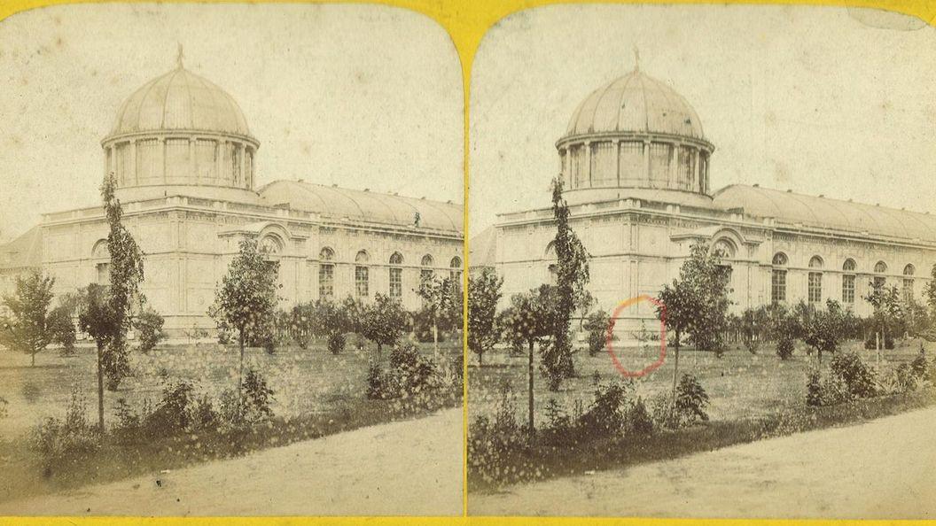 Botanischen Garten Karlsruhe, historische Fotografie.