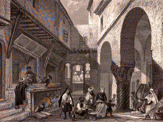 Straßenhändler in Algier, L' Algérie ancienne et moderne von Léon Galibert, 1861