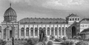 Historischer Stich des Botanischen Gartens Karlsruhe