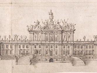 Residenzschloss Rastatt, Entwurf Schloss, Rossi